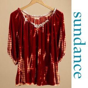 Sundance Tye Dye all hours tunic small red orange